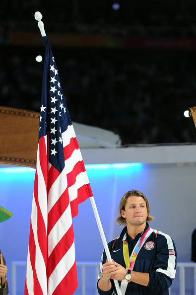 Tony as the US flag bearer at the 2011 Pan Am Games in Guadalajara, Mexico.