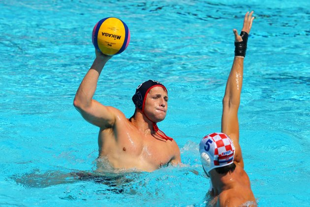 Tony playing at the 2013 FINA World Championships in Barcelona, Spain.