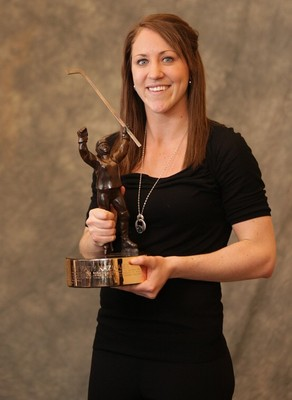 Winner of the Patty Kazmaier Award, presented annually to the NCAA's best collegiate female hockey player (equivalent to the Heisman Trophy).