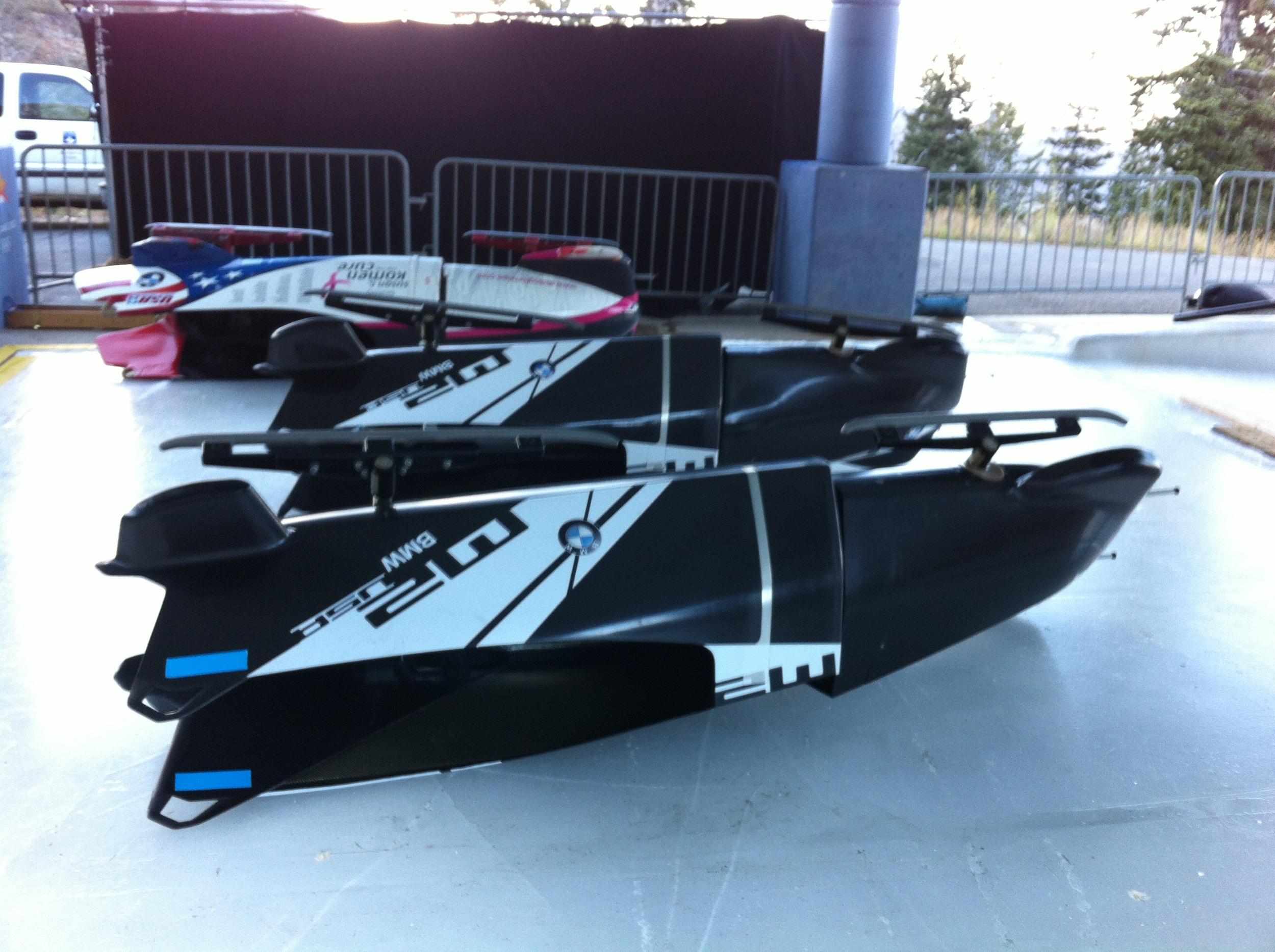 BMW 2-man bobsleds - built by BMW USA DesignWorks