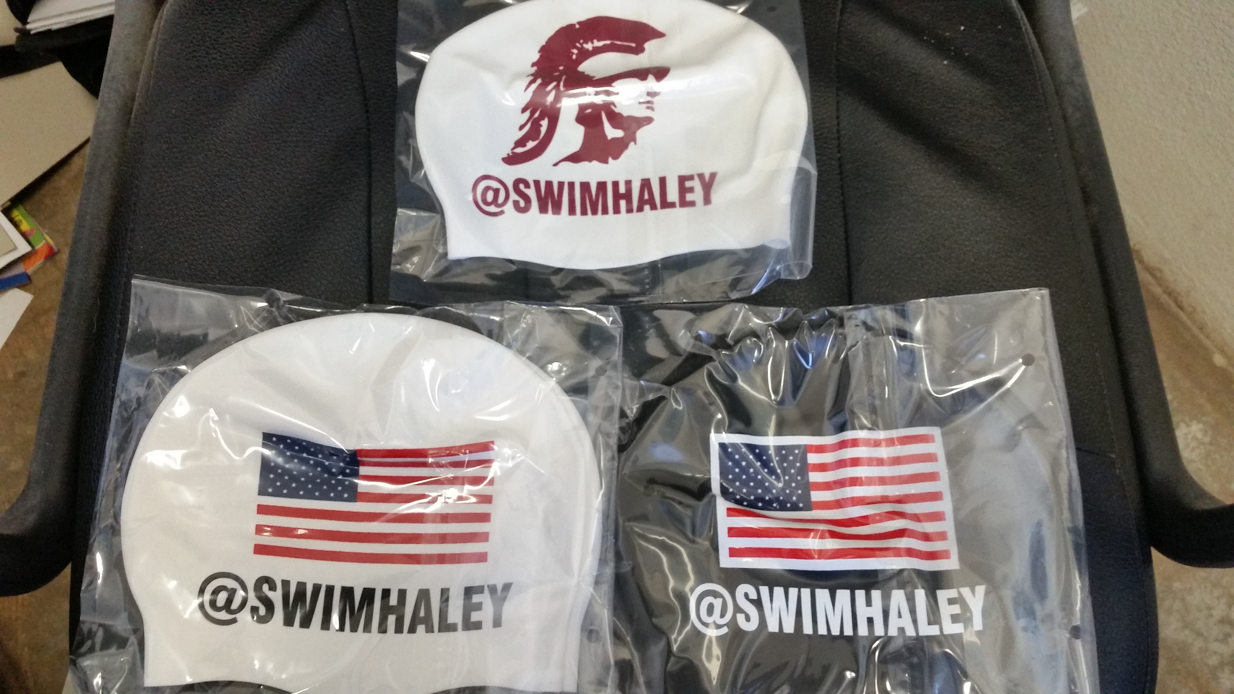 With permission from USA Swimming, she was able to make the change from last name to twitter name on her caps for the 2014 U.S. Nationals.  USA Swimming the following year offered American swimmers the opportunity to do the same at their Duel in the Pool event in November 2015.