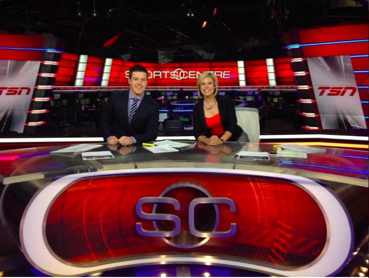 Tessa Bonhomme became an anchor on TSN's SportsCentre when the network expanded their offerings to 5 channels in August of 2014.