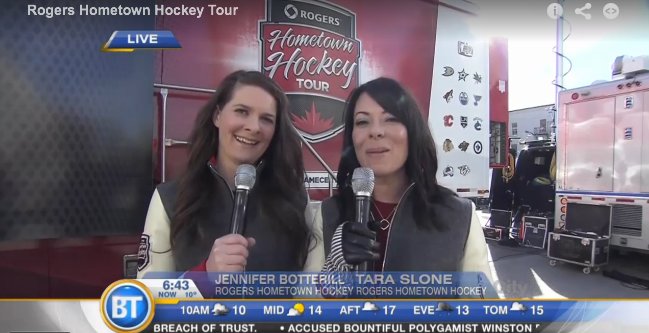 On remote with Tara Slone - Rogers Hometown Hockey 2014-15