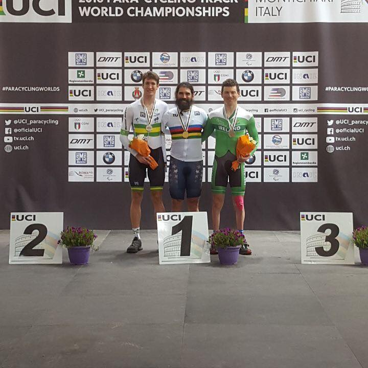 Gold at the 2016 UCI Para-Cycling Track World Championship (Pursuit) in Italy.