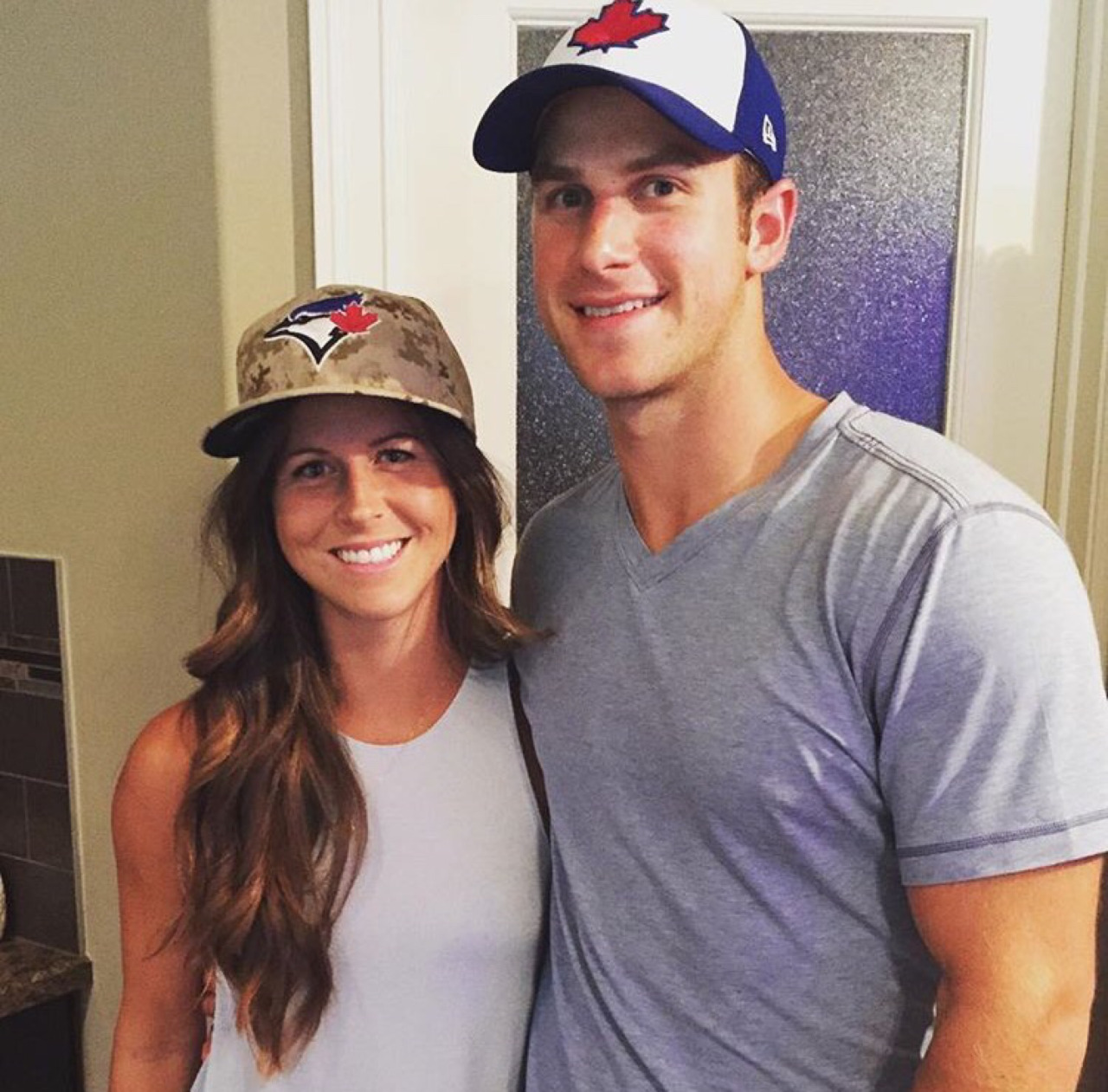 Katie and boyfriend Tyler Fedun. Tyler is a professional hockey player who is a member of the Buffalo Sabres system.   Katie and Tyler live together in upstate New York.