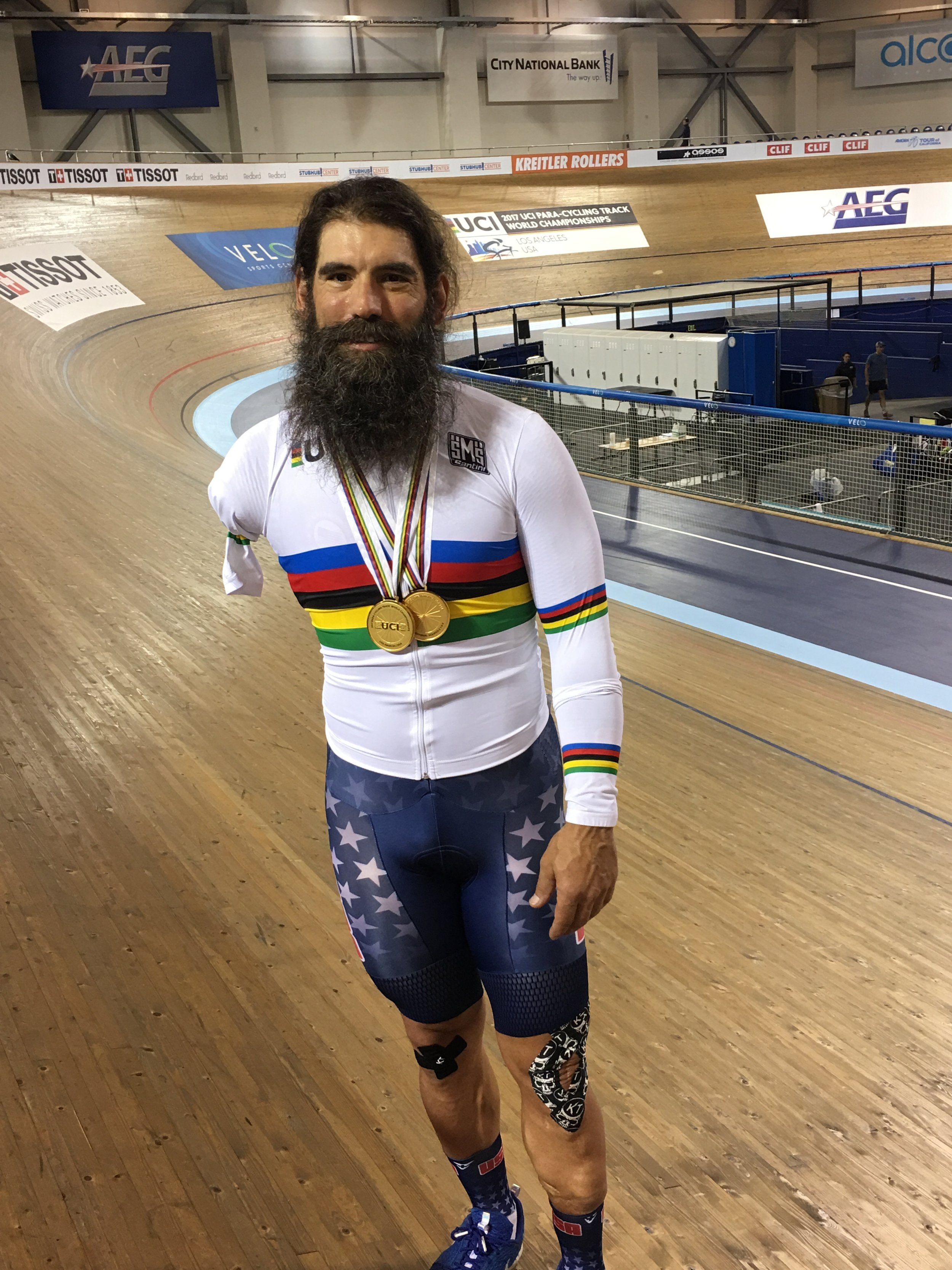 Joe Berenyi pictured after the UCI ParaCycling World Championship at the Velo Sports Center in Carson, CA - March 2017
