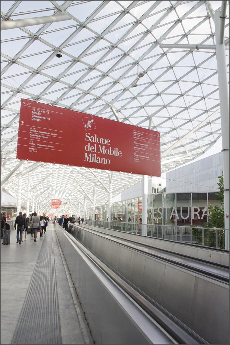 Salone del Mobile 2014 на территории выставочного комплекса Fiera di Milano.