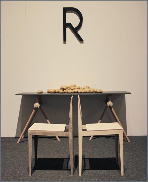 Стул RS и стол Mechanical Wood от Roiivar Creative Studio