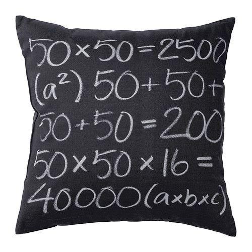 Плохо с математикой? Этот чехол для подушки поможет потренироваться.