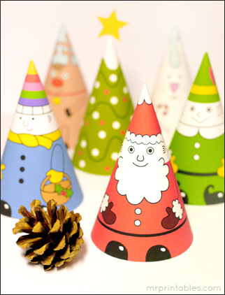 Santa-and-Friends-Cones