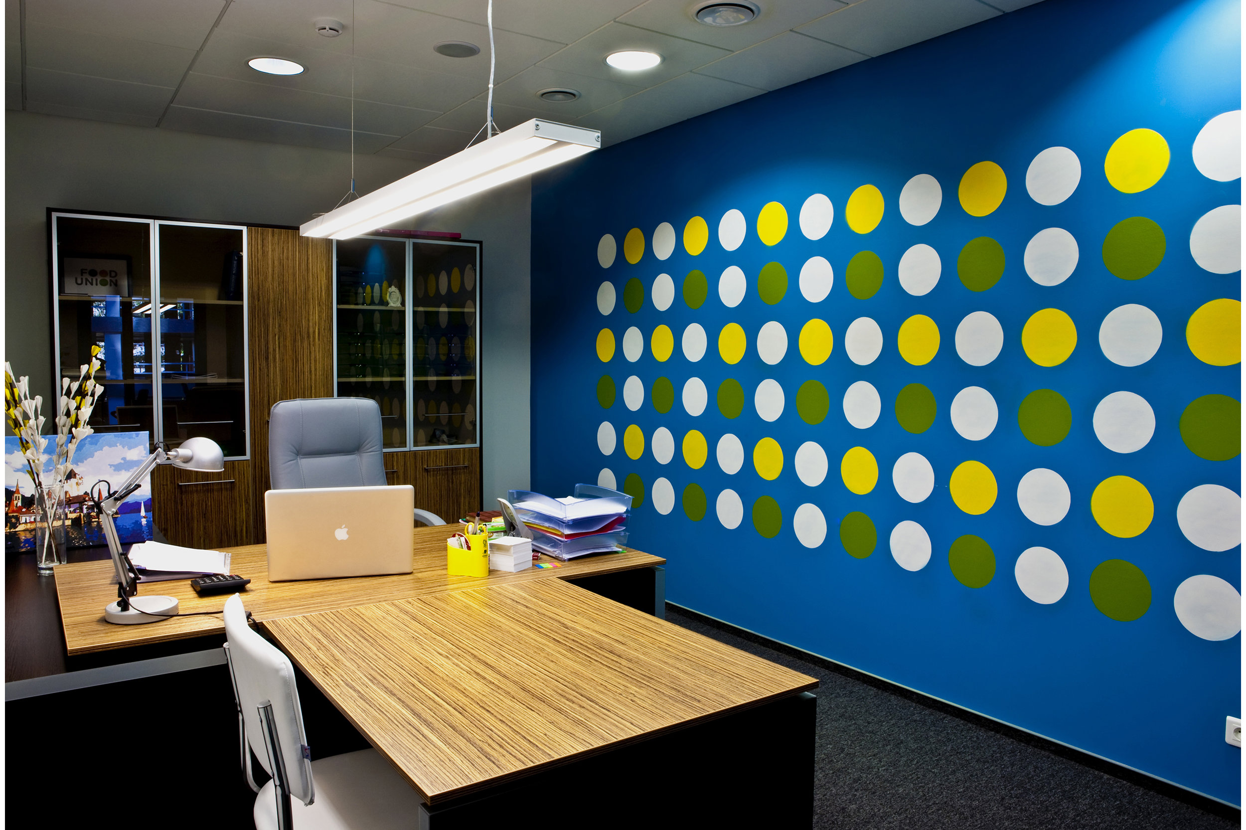 Office interior decorative mural