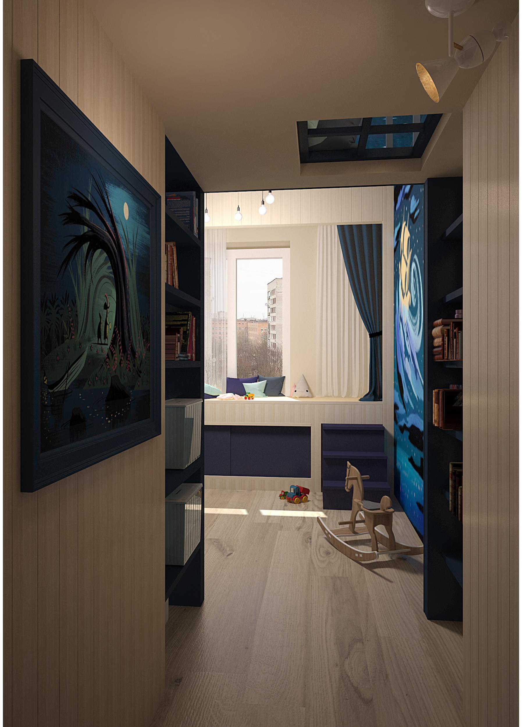 Boy bedroom. Peter Pan style.