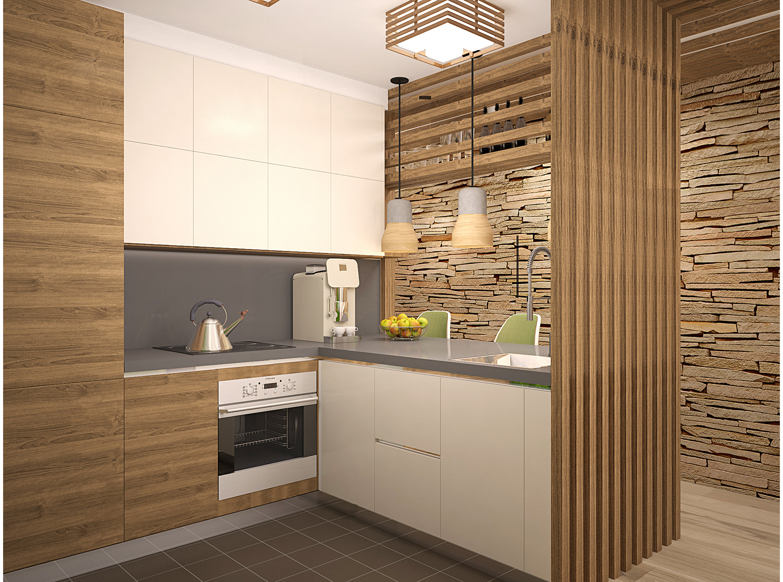 Copy of Contemporary kitchen L-shape with island