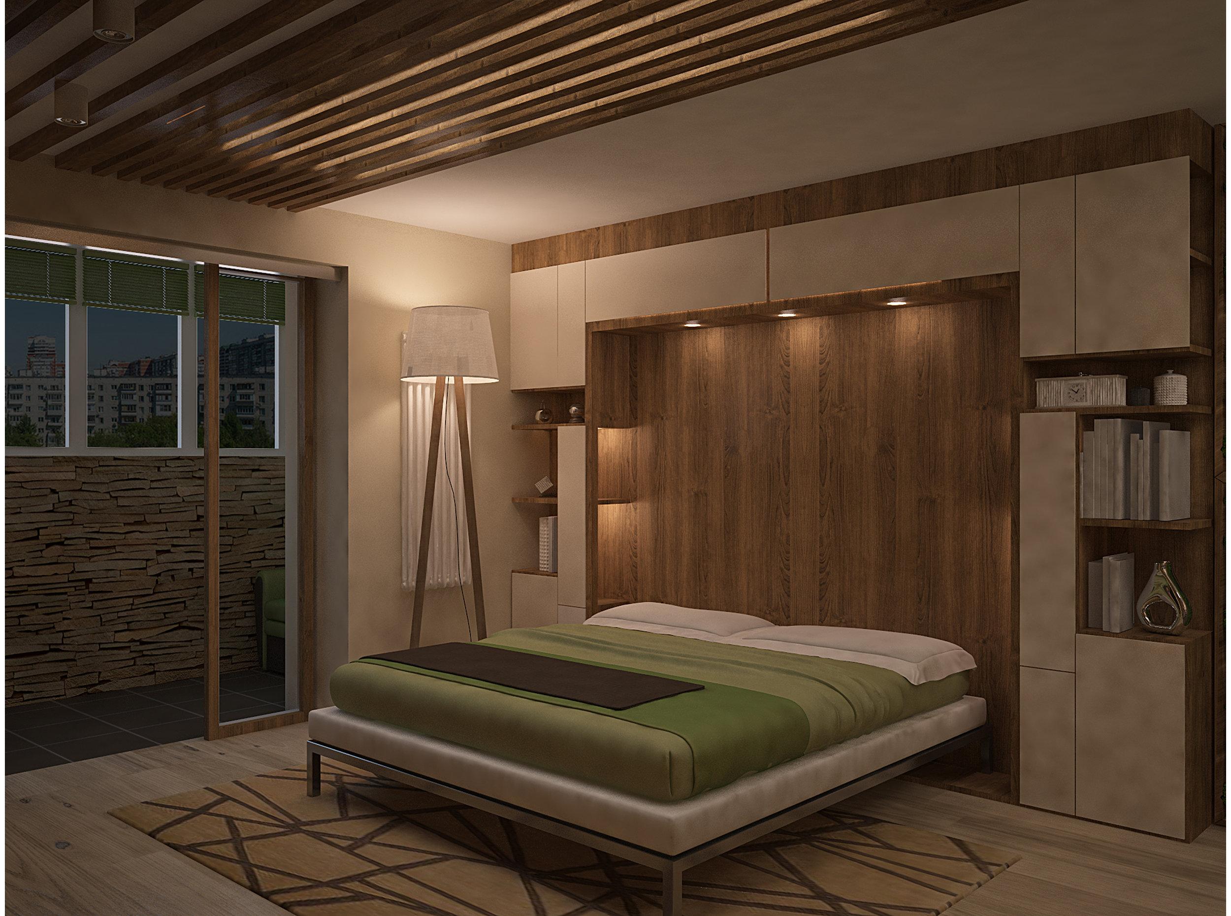 Copy of Living room transformed into bedroom