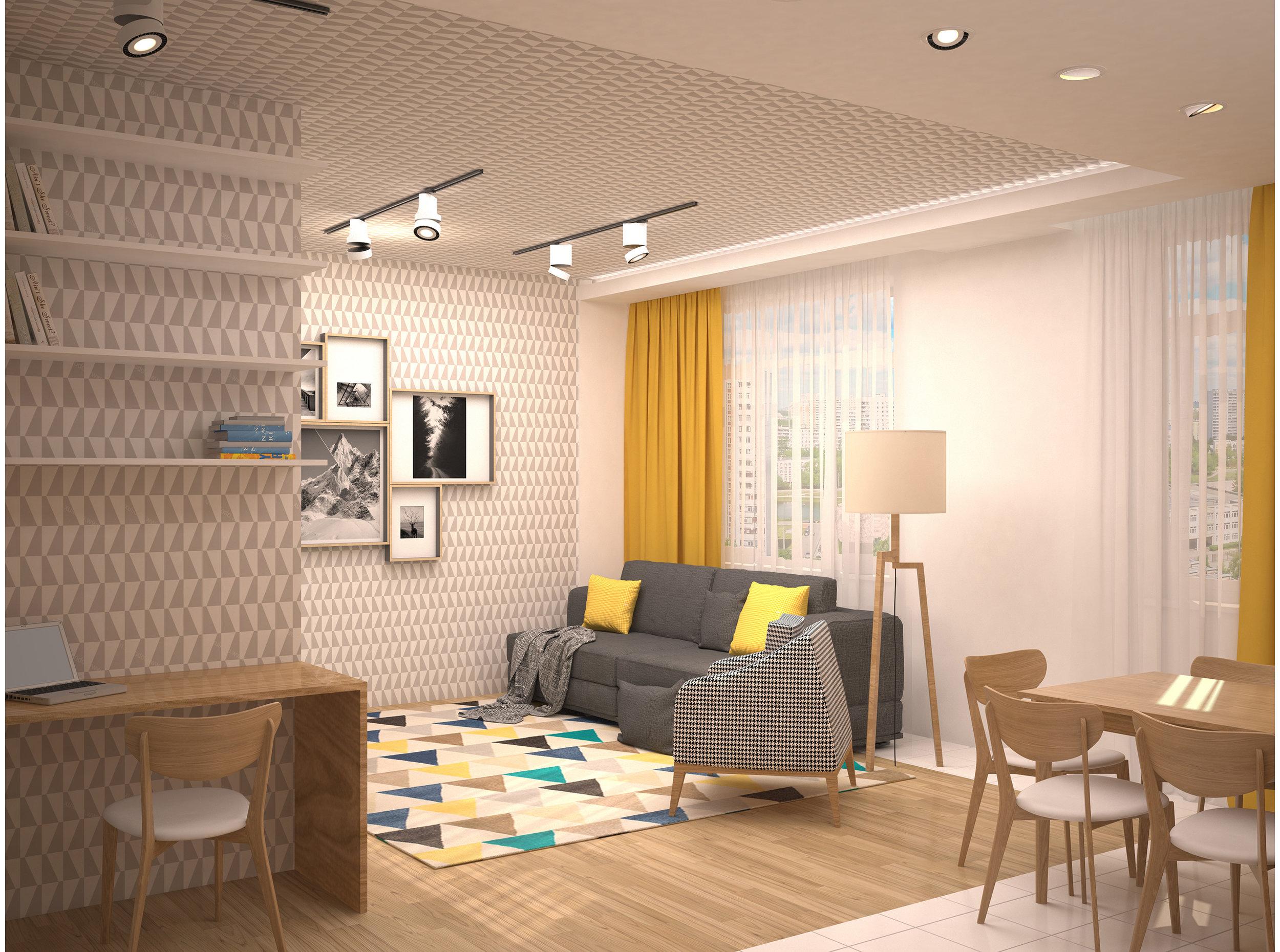 Copy of Scandinavian style living room interior