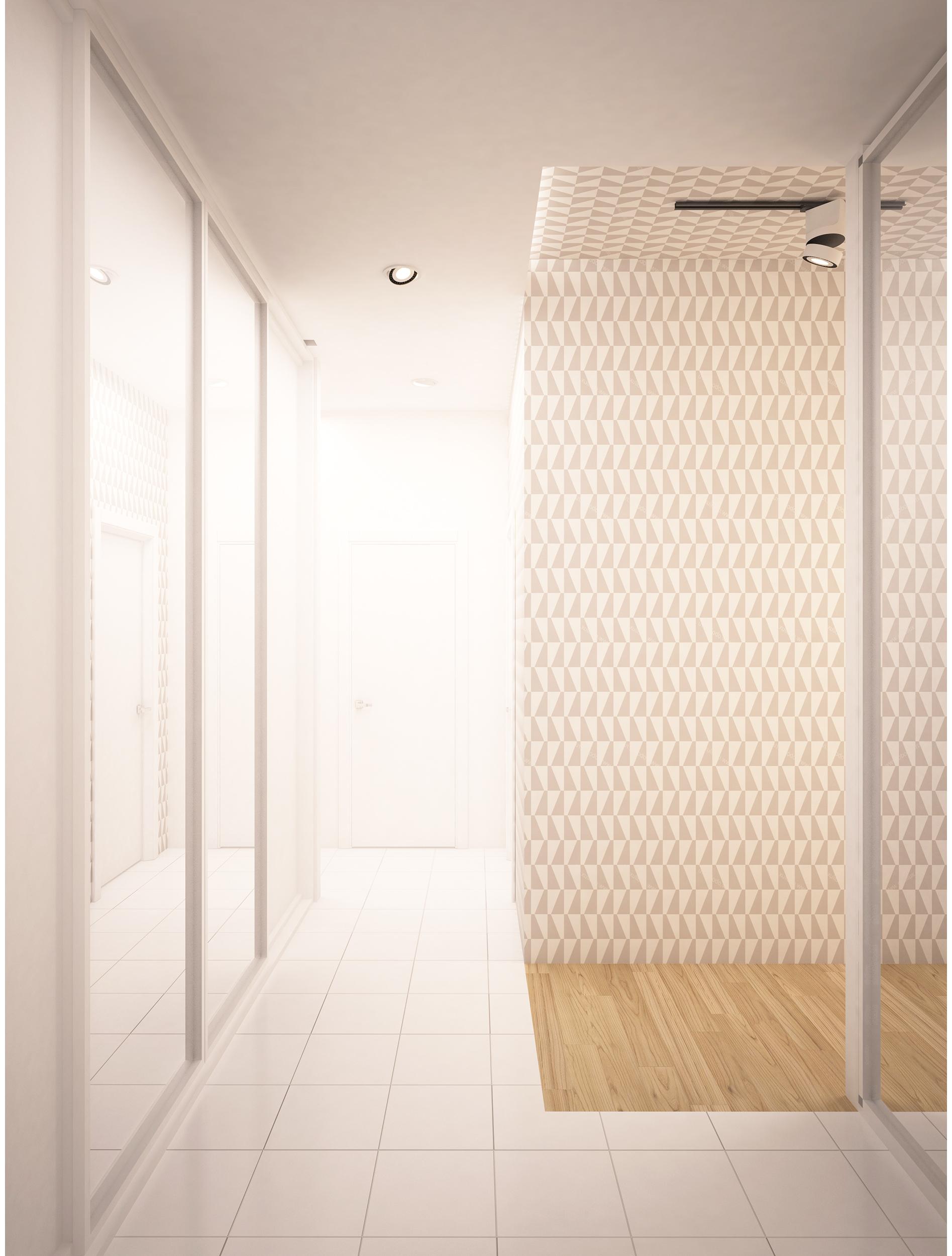 Copy of Scandinavian style apartment interior. Hallway