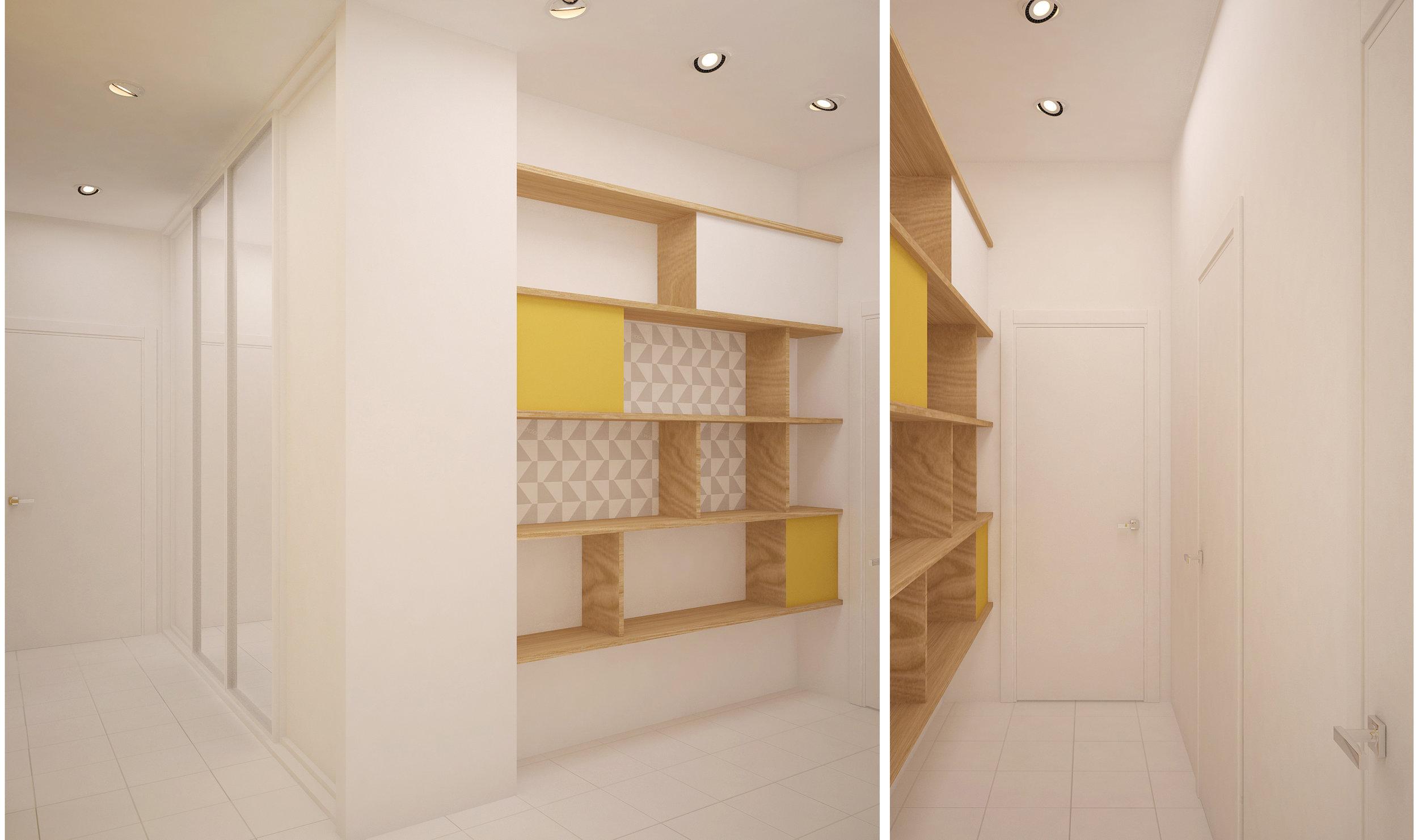 Copy of Scandinavian style apartment interior. Corridor
