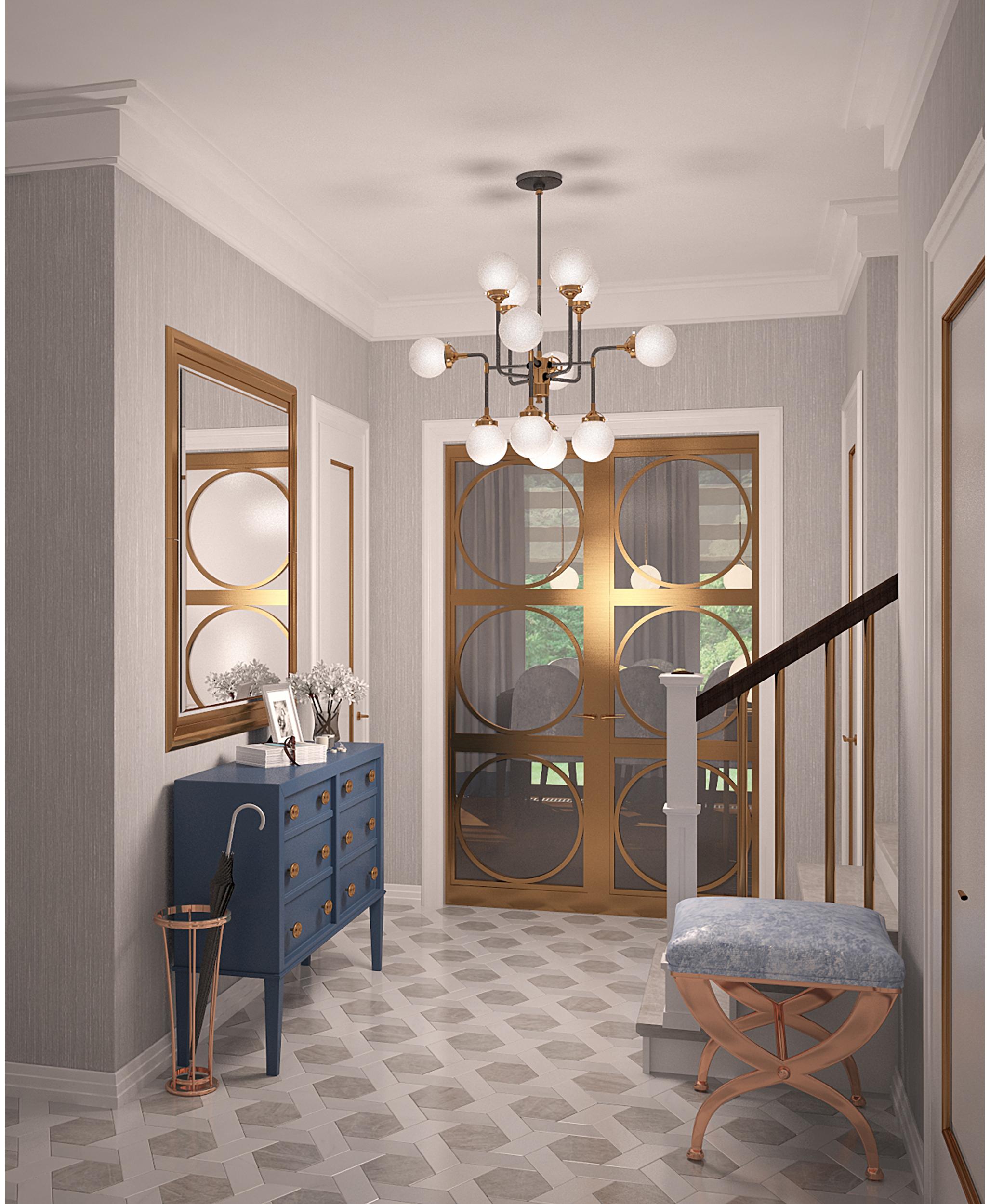 Copy of Private villa interior. Hallway