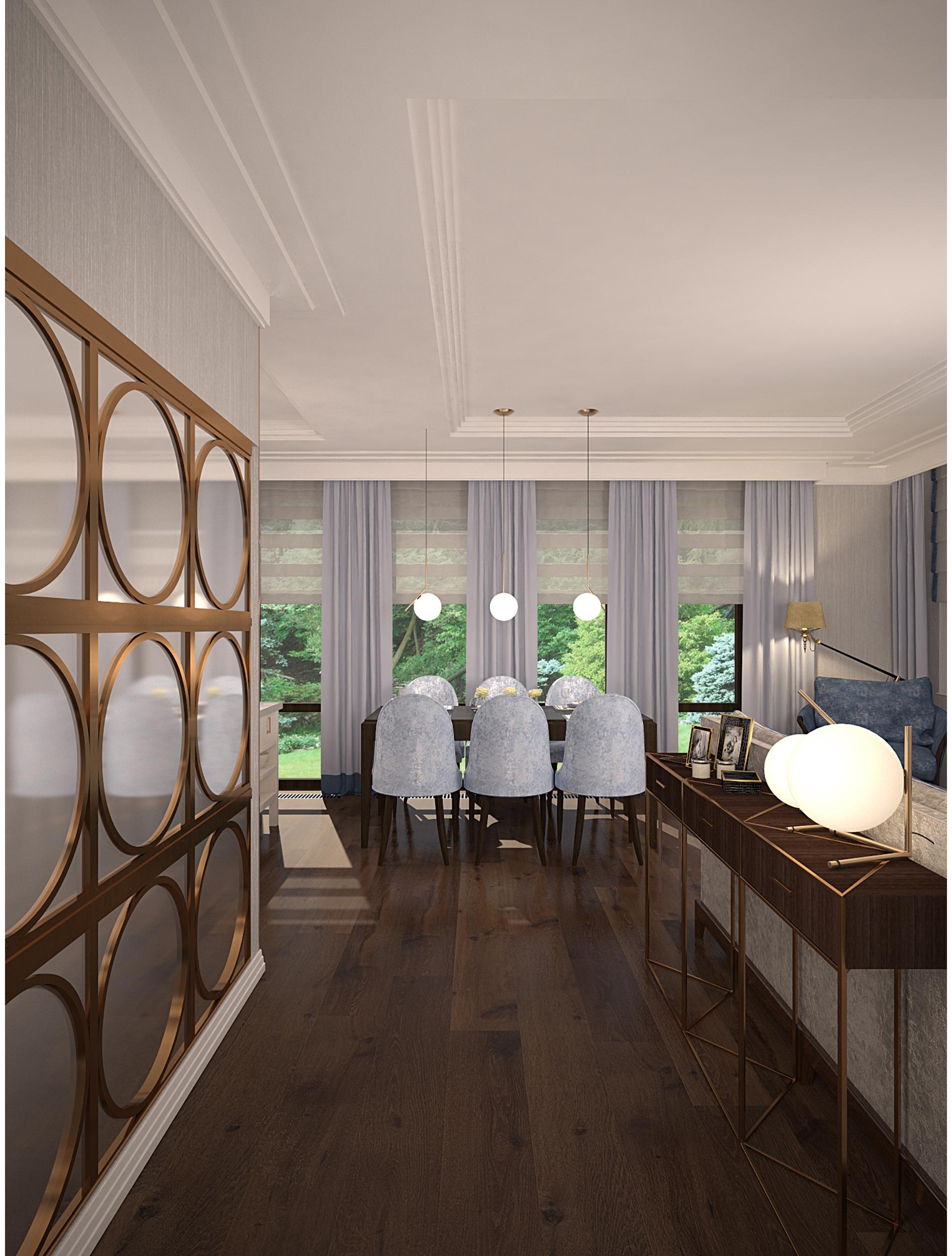 Copy of Living room. Contemporary art deco style interior.