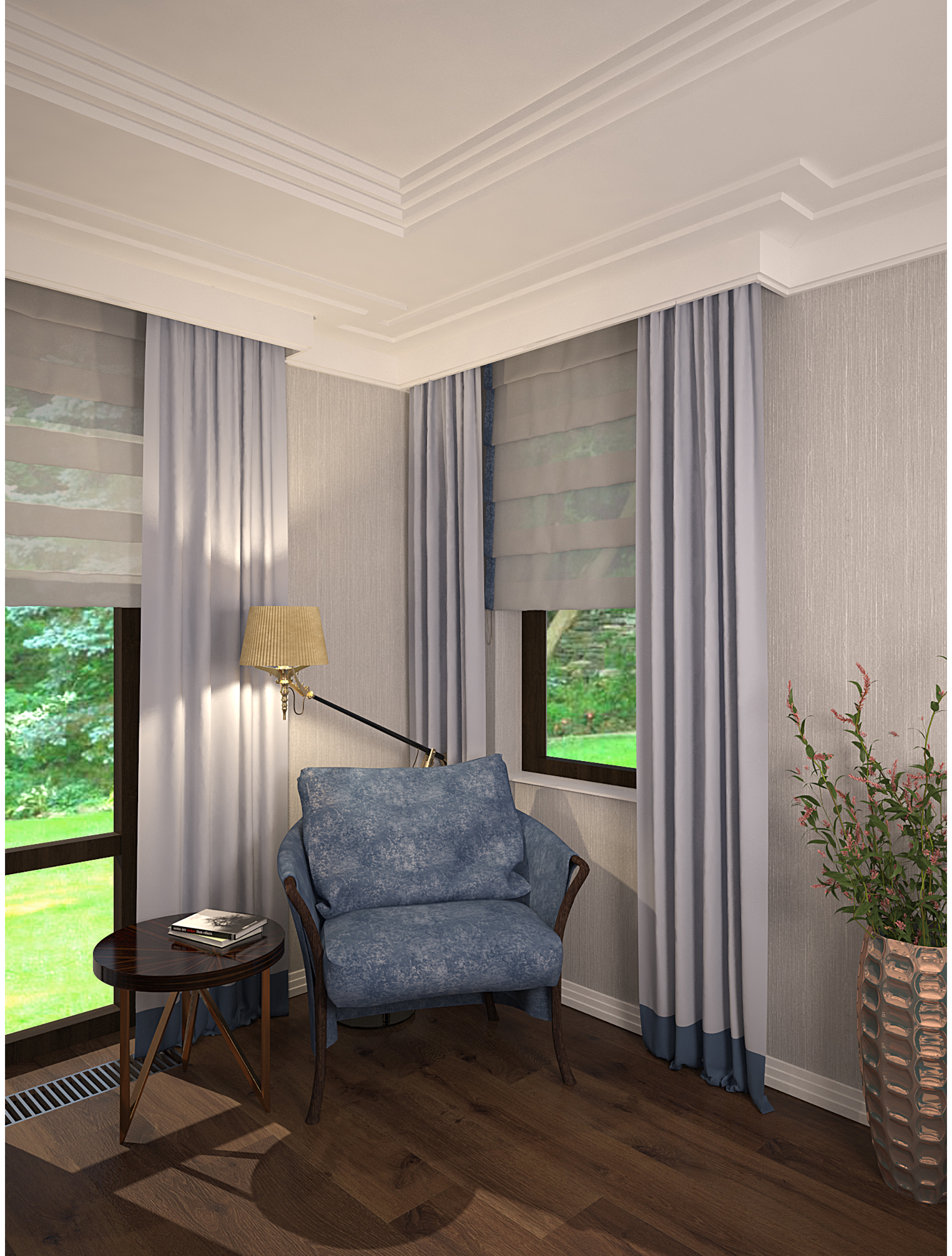 Copy of Living room interior inspired by art deco style