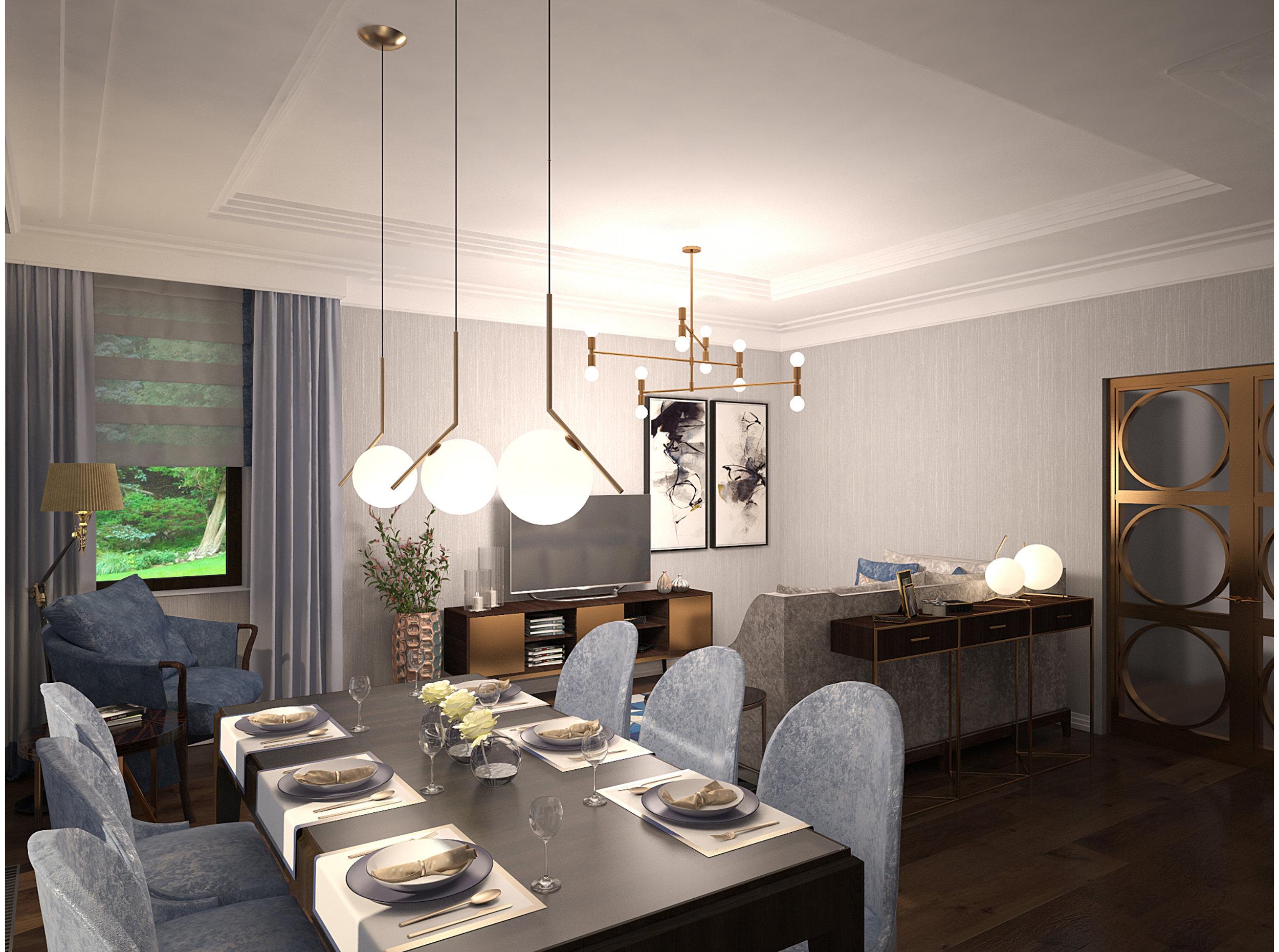 Copy of Dining area art deco style