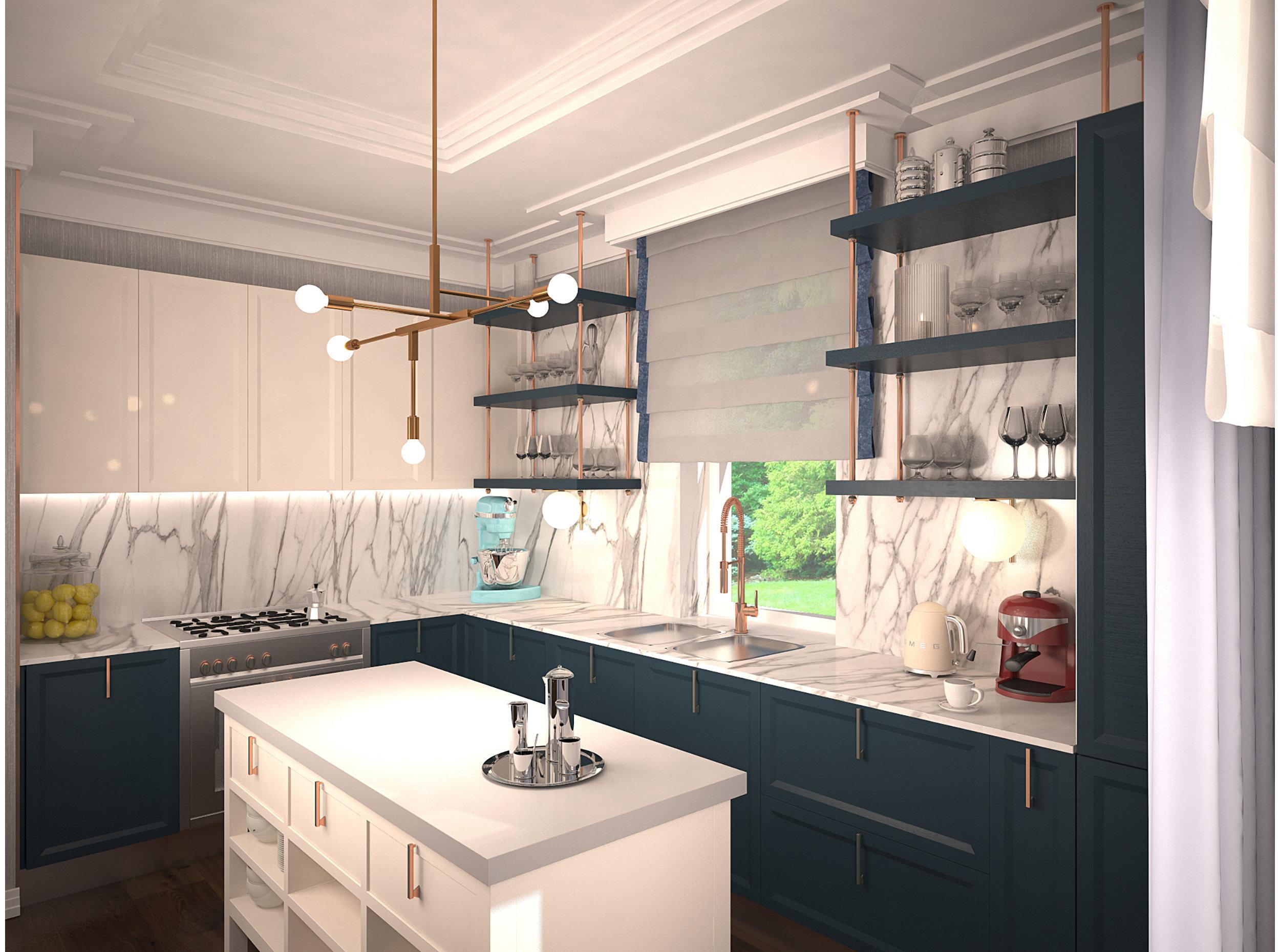 Copy of Art deco style kitchen interior