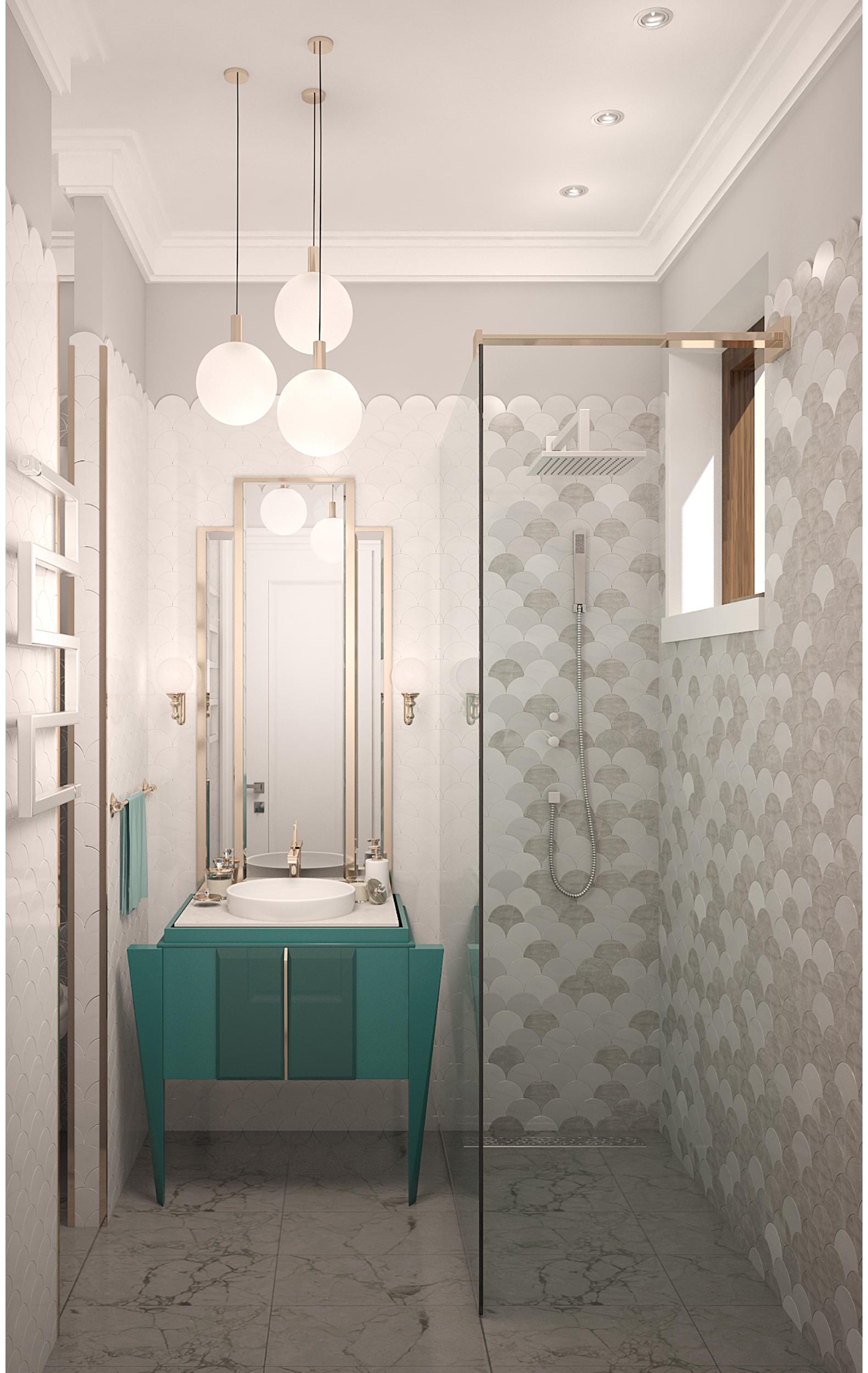 Copy of Bathroom interior art deco style