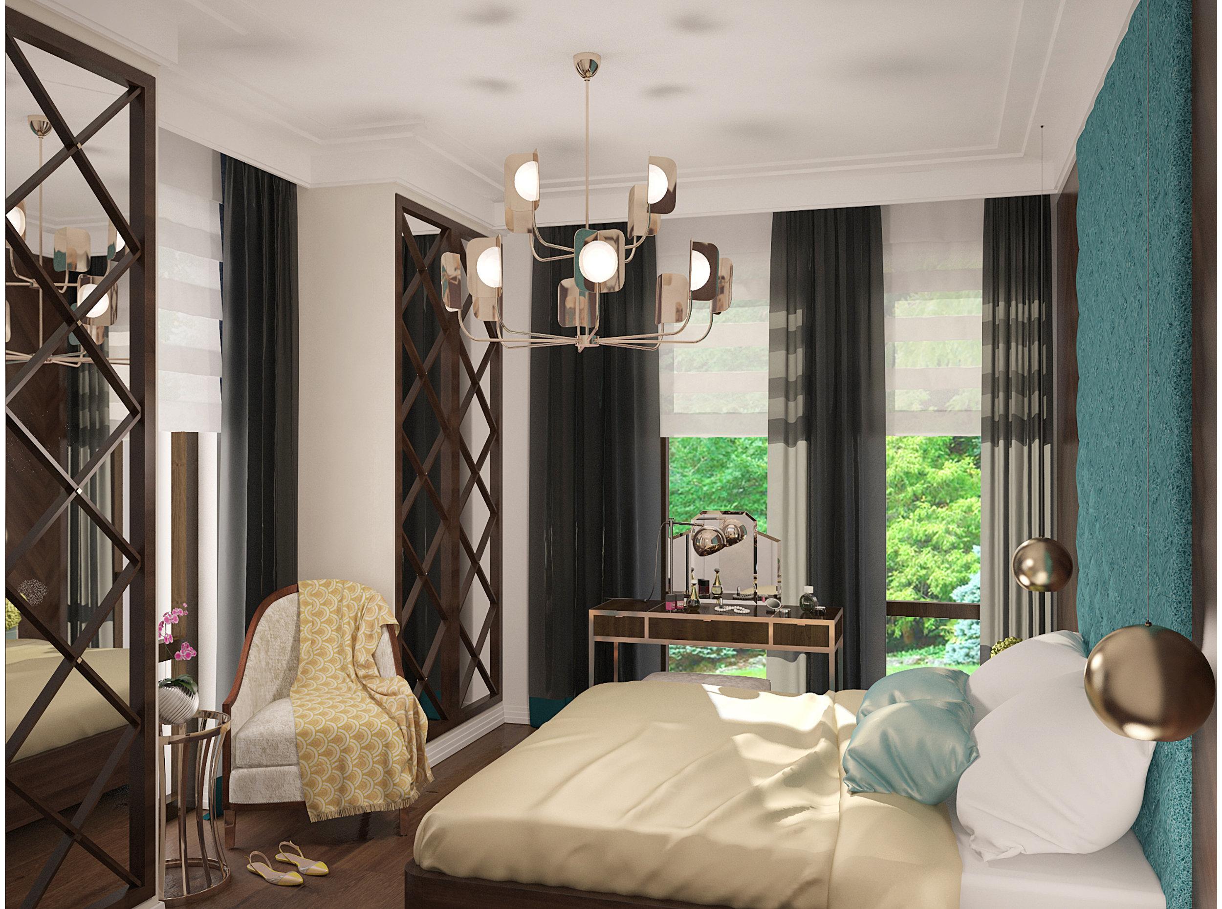 Copy of Bedroom art deco style interior