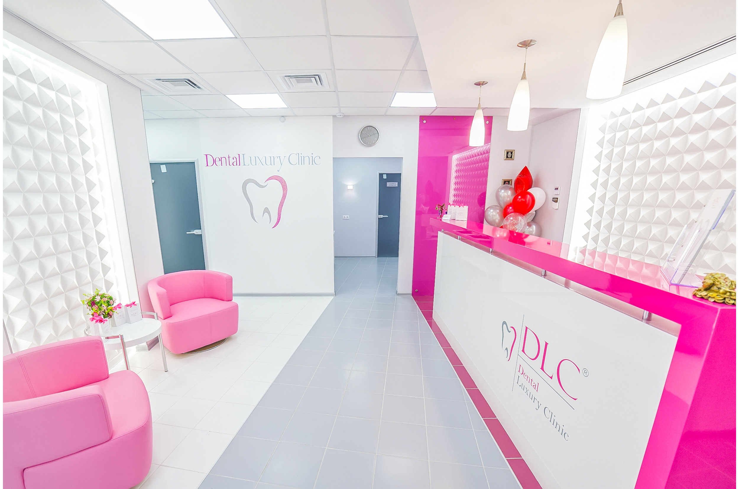 Dental practice reception area interior