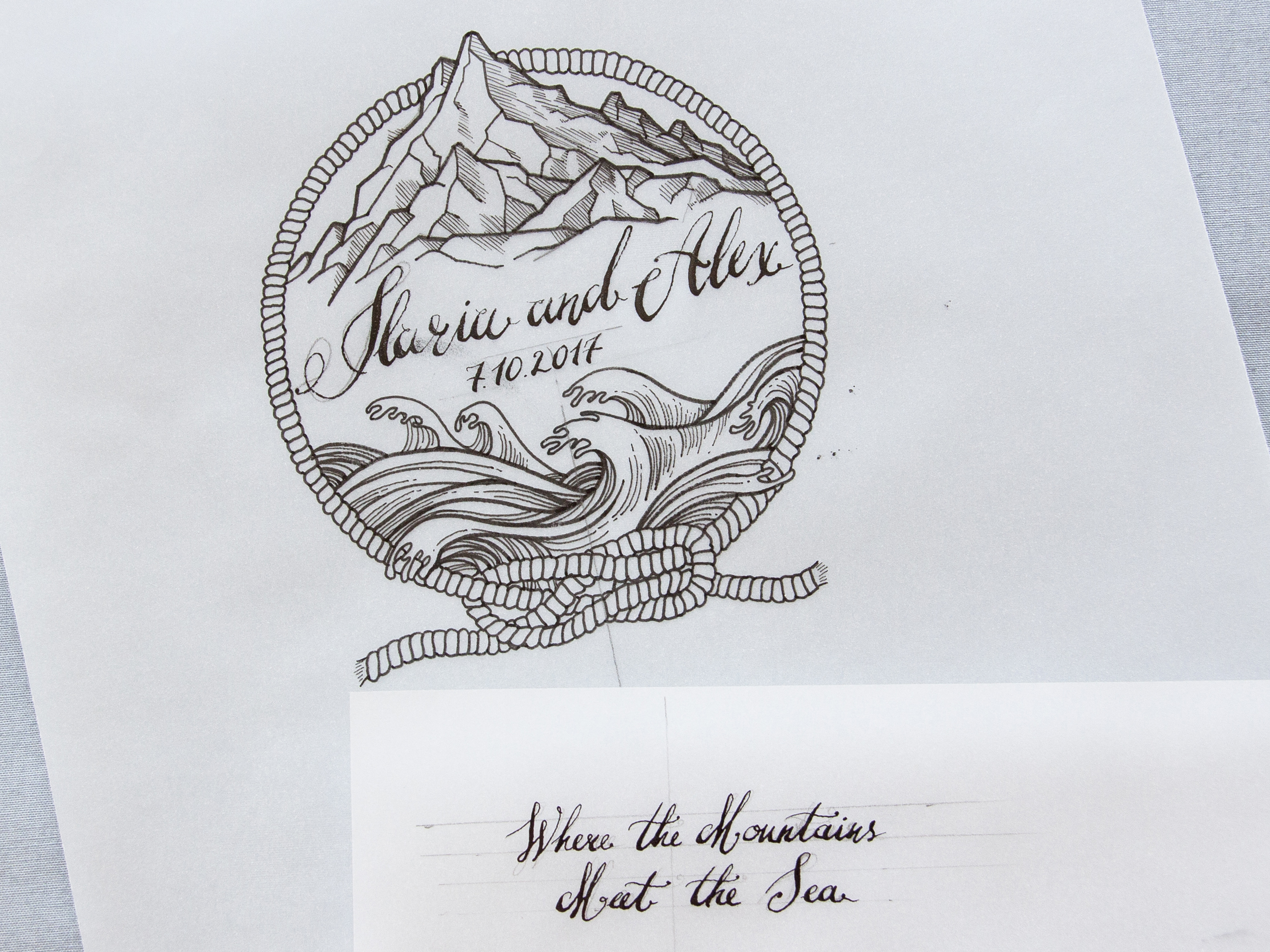 Copy of Custom designed logo for the newly weds
