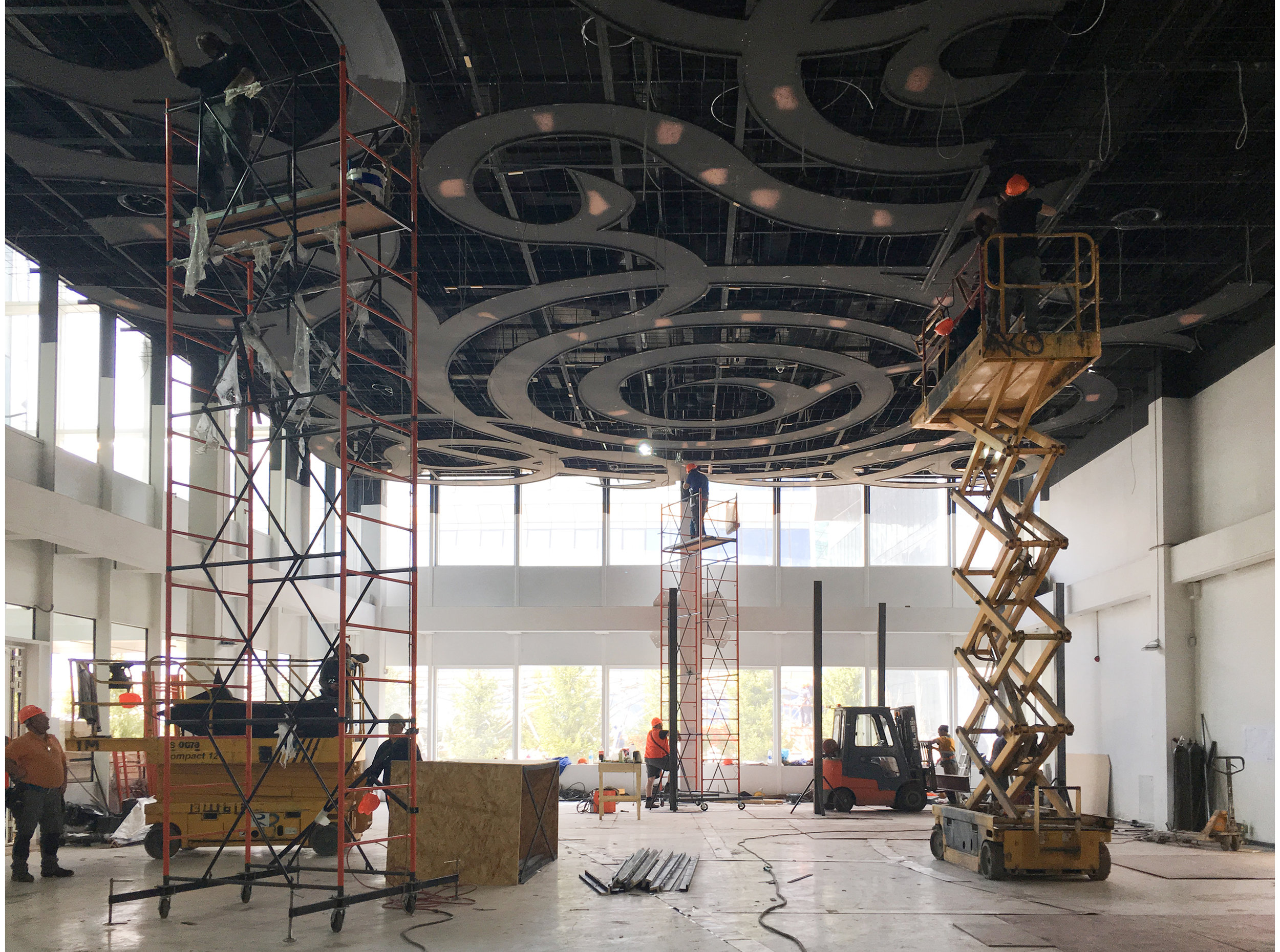 IRAN pavilion EXPO Astana-2017. Suspended ceiling construction