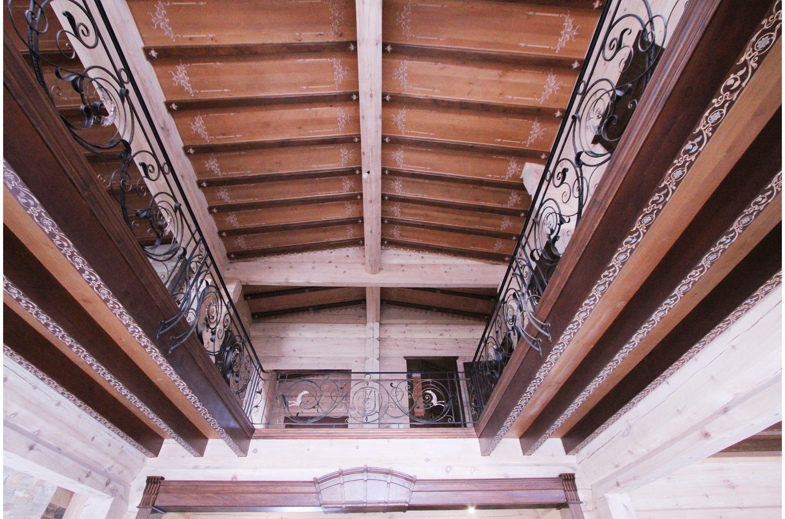 Copy of Private villa interior. Wooden ceiling