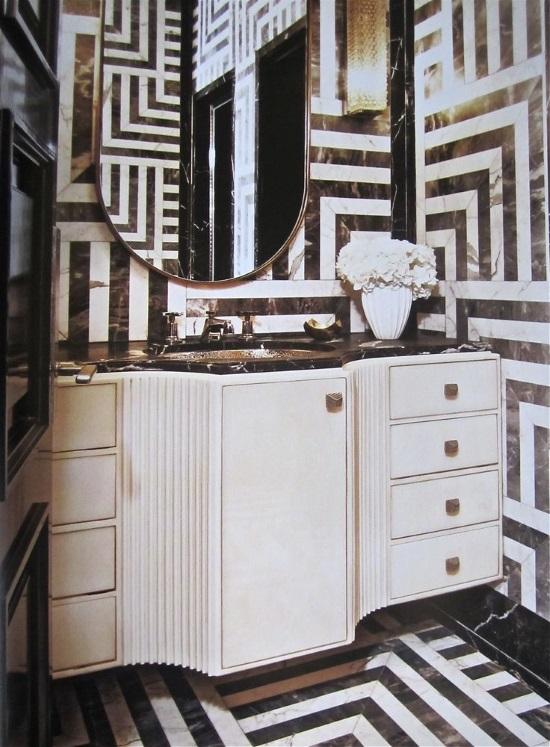 Интерьер ванной комнаты в стиле Ар Деко