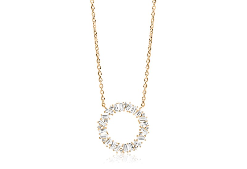 - I was wearing theNecklace Antella CircoloGrande - 18k gold platedwith white zirconia
