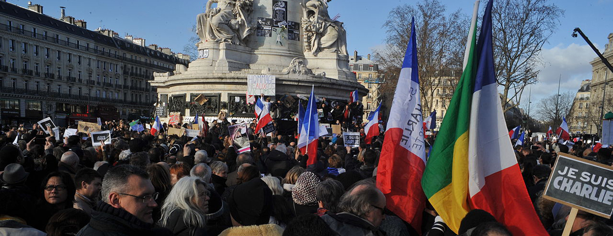 """Headline image credit: Paris rally in support of the victims of the 2015 Charlie Hebdo shooting, 11 January 2015. Photo by """"sébastien amiet;l"""". CC BY 2.0 via Flickr. - See more at: http://blog.oup.com/2015/01/fear-terror-signal-crimes-counter-terrorism-charlie-hebdo/#sthash.MEigEKOU.dpuf"""