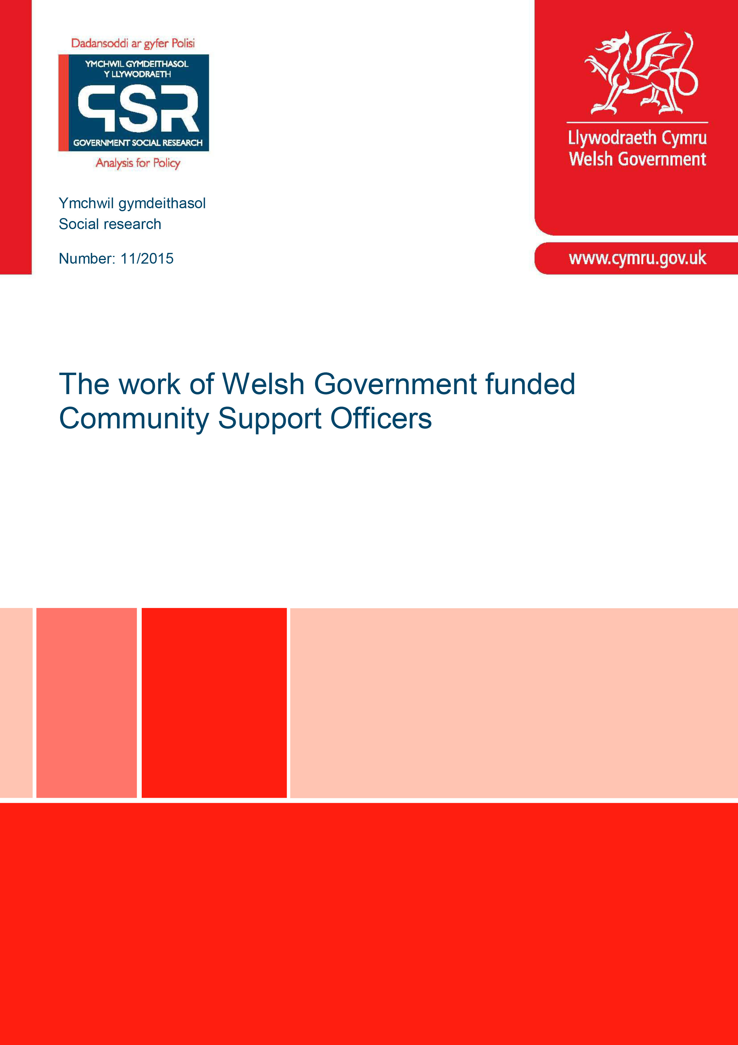 The Work of Welsh Government Funded Community Support Officers