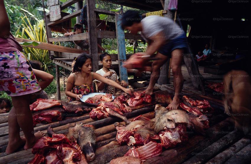 Traditional Penan hunter-gatherers in Sarawak, Borneo.