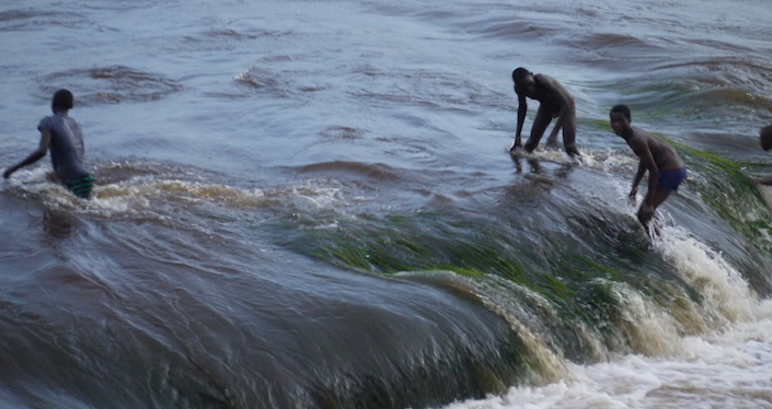 Boys enjoying a swim in the Congo River  (photo by Bill Laurance)