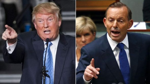 Donald Trump and Australia's loudest disciple of Big Coal, Tony Abbott