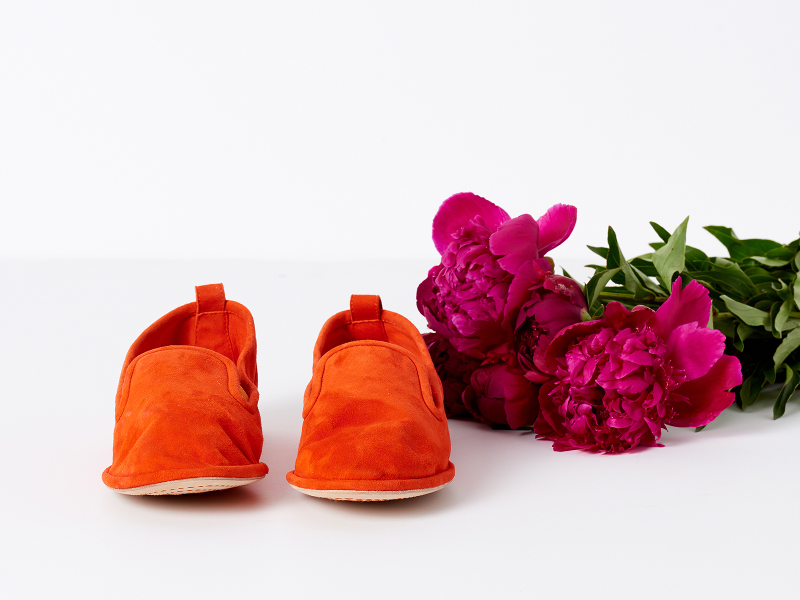 APC Suede Shoe in Orange