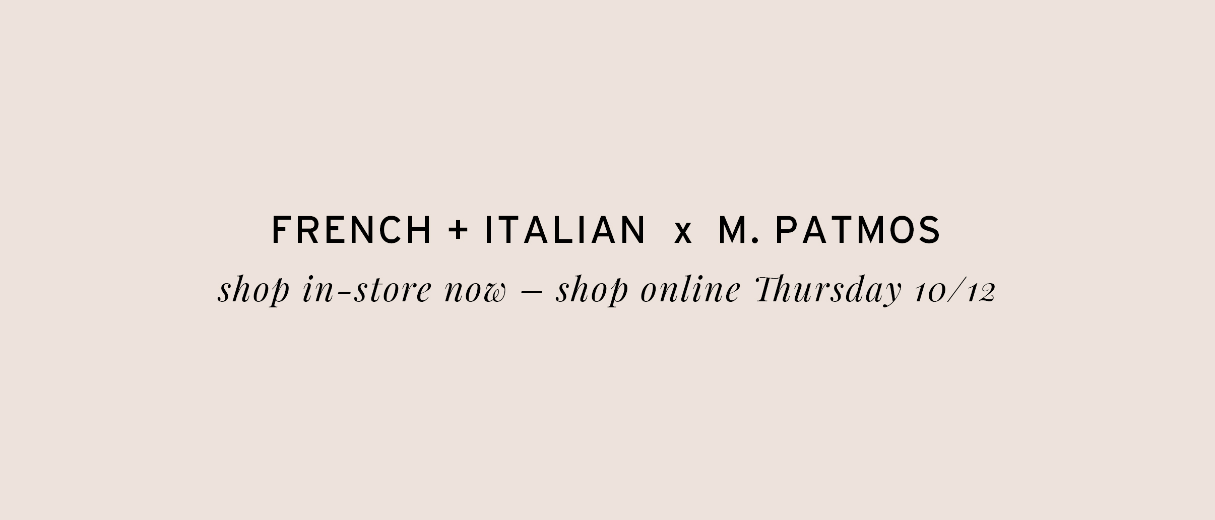 French Italian M Patmos