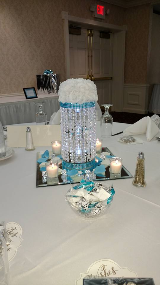 Wedding center piece with candles