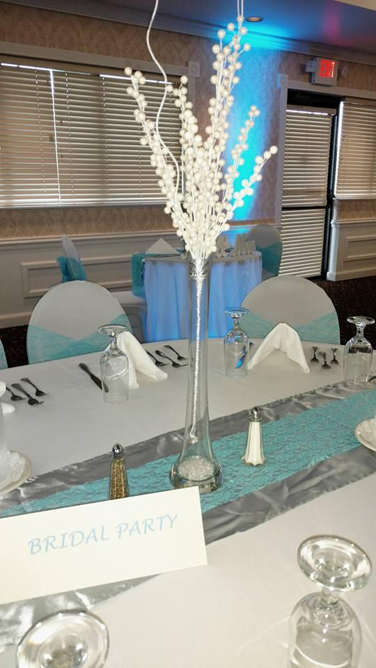 Tall wedding center piece