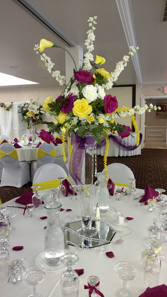 Tall floral center piece
