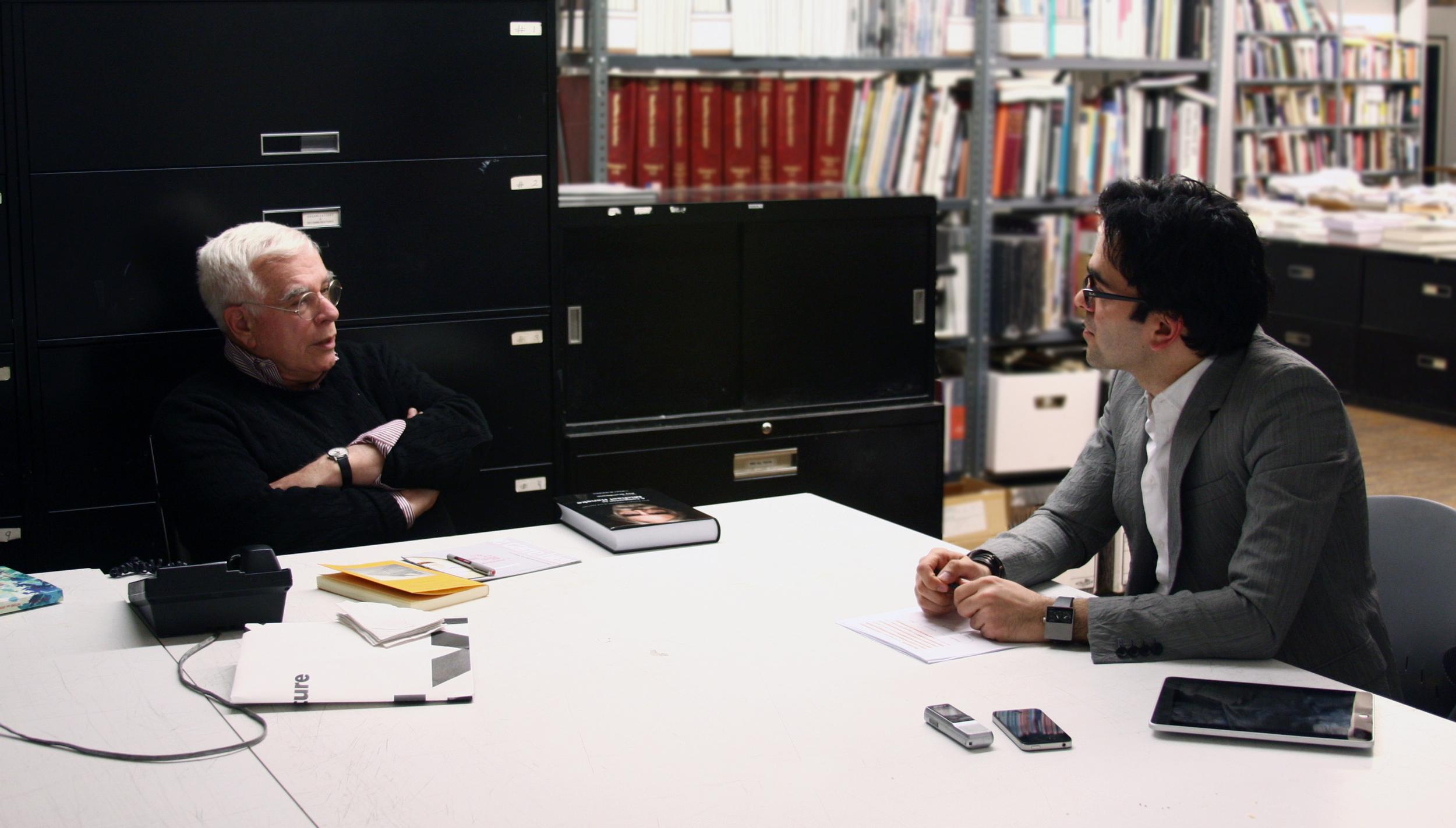 Iman Ansari and Peter Eisenman, New York 2013