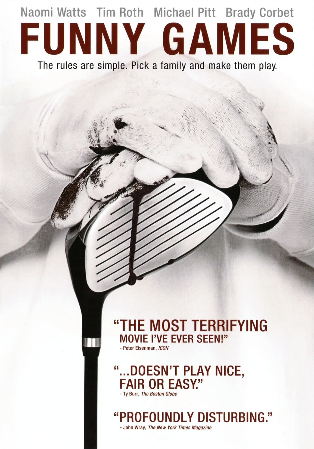 "The cover of Michael Haneke's ""Funny Games"" (2007) with a caption from Eisenman"