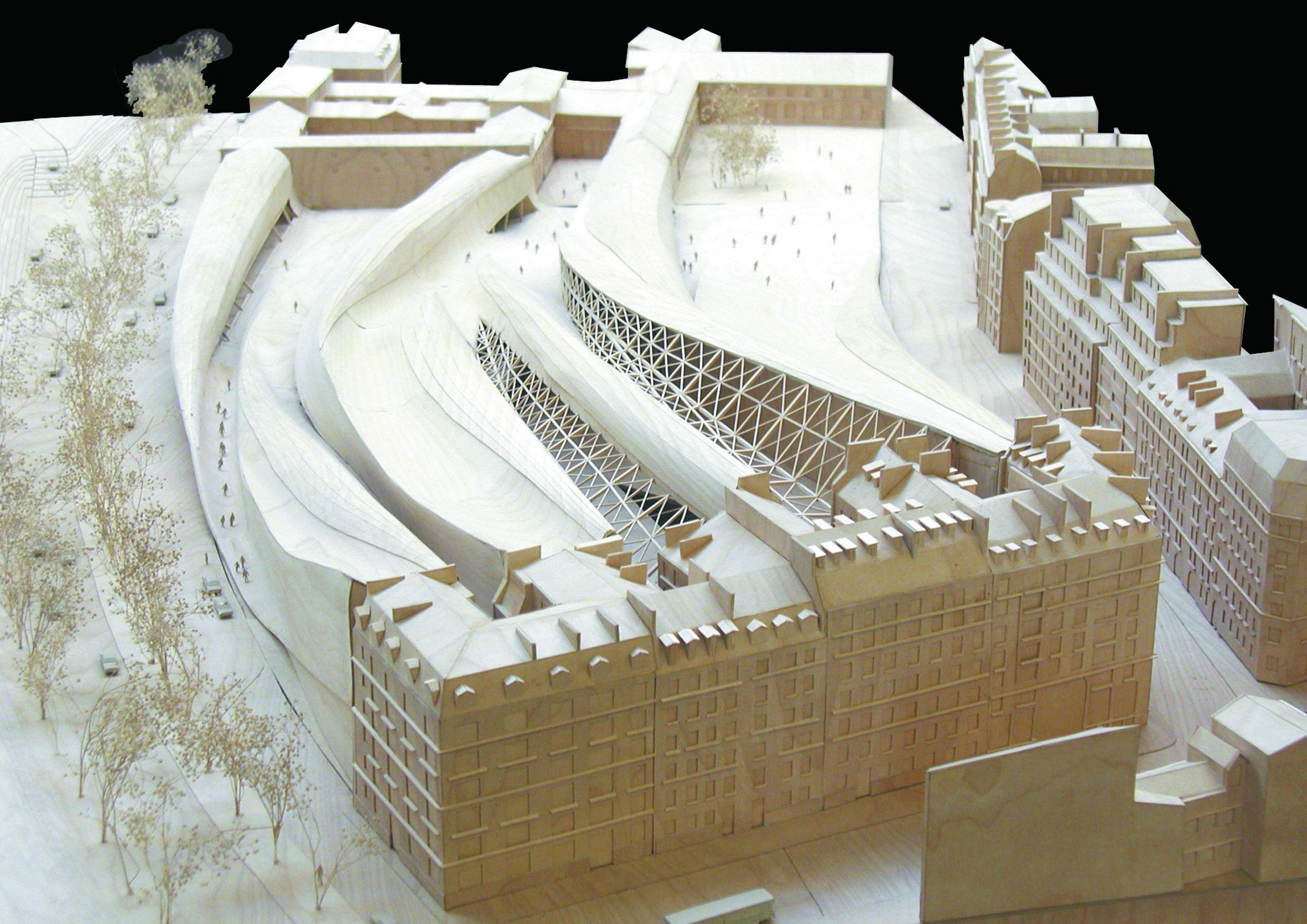 Eisenman's unrealized Qaui Branly Museum in Paris
