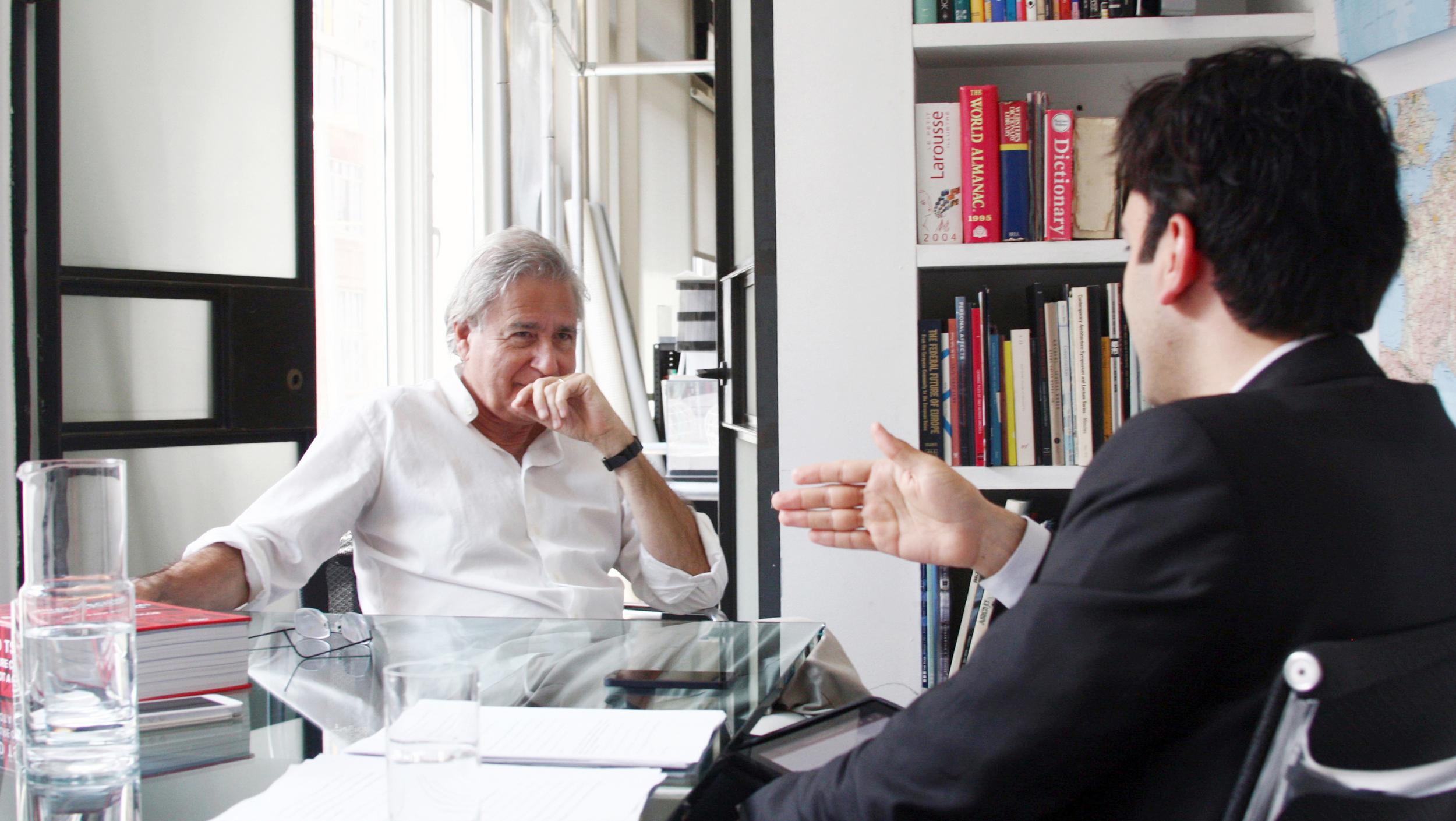 Iman Ansari with Bernard Tschumi