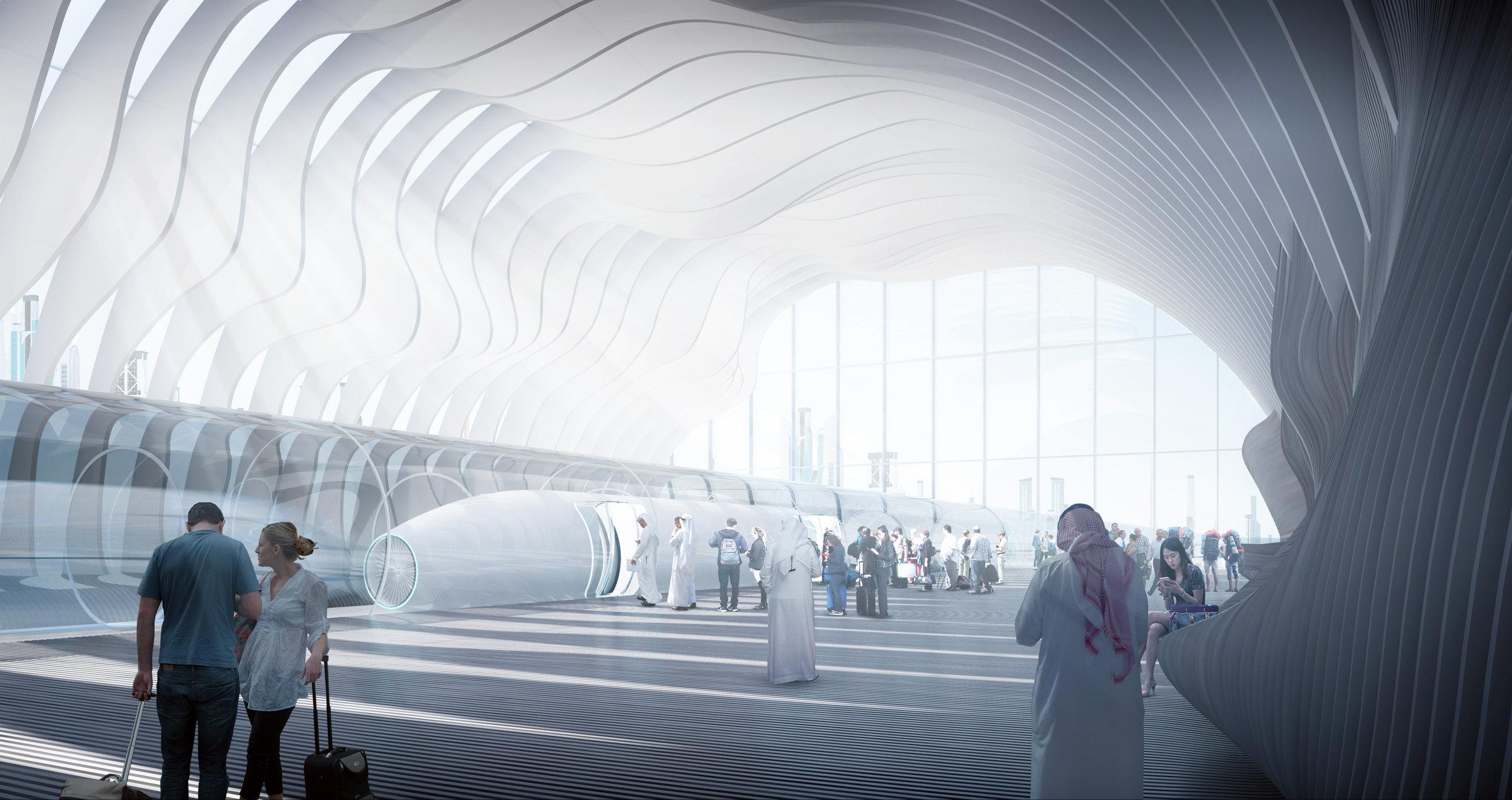 Hyperloop station design, AN.ONYMOUS