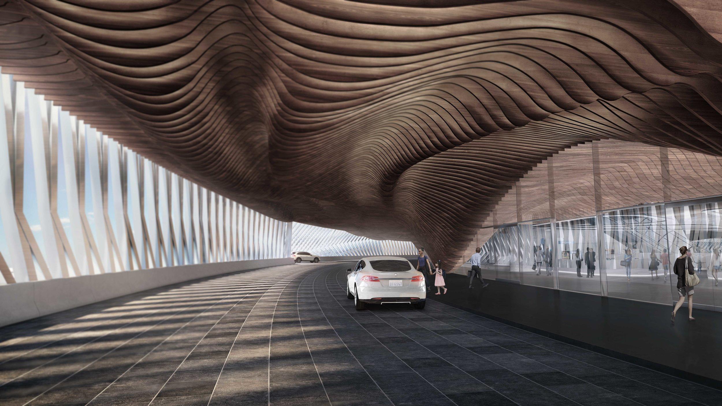 AN.ONYMOUS Hyperloop Station entrance_Iman Ansari_Marta Nowak_HTT